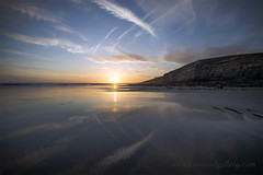 CLIFF REFLECTIONS, SOUTHERNDOWN. (IMAGES OF WALES.... (TIMWOOD)) Tags: sea beach southwales wales reflections coast photo sand gallery photos valeofglamorgan bridgend porthcawl southerndown ogmorebysea timwood