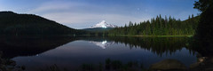 Trillium Lake panorama, May 2016 (Ben_Coffman) Tags: lake oregon stars trillium mthood pacificnorthwest trilliumlake bencoffman bencoffmanphotography trilliumatnight hoodatnight