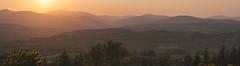Clear Sunset (d1g1dav3) Tags: camera bridge trees ireland sunset shadow summer sky panorama sun mountain green set photoshop river nikon warm raw valley fields wicklow ligh avoca d5200