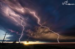 Lightning Dog (Gavmonster) Tags: longexposure summer sky usa dog storm car rain weather clouds america landscape nikon nebraska unitedstates wind wideangle stack land thunderstorm lightning thunder stormchasing ogallala lighttrail dogshead supercell stormchaser 1024mm d7000 nikond7000 gswphotography