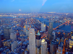 New York, NY Views from the One World Observatory (army.arch) Tags: nyc newyorkcity moon ny newyork observation evening deck brooklynbridge eastriver 1worldtradecenter oneworldtradecenter oneworldobservatory