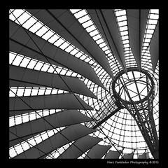Sony Centre, Postdamer Platz, Berlin (Marc Funkleder Photography) Tags: bw abstract berlin glass architecture germany deutschland nikon sonycentre steel sony allemagne verre helmutjahn abstrait acier postdamerplatz 2470mm28 nikond600