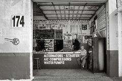 Street Side Auto Parts (35mmStreets.com) Tags: street city portrait urban bw 35mm photography blackwhite nikon df little florida miami sony havana kittens d750 nik southbeach dsc sobe lightroom washingtonstreet d600 collinsave d4s silverefex 35mmstreets rx1rm2