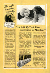 Teeth Were Diamonds (John M Poltrack) Tags: media text national toothpaste colgate geographic 1926 newsclippings