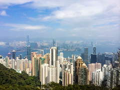 Hong Kong skyline from Victoria Peak (Evgeny Ermakov) Tags: china above city travel blue sea vacation sky urban hk cloud seascape building tower tourism water beautiful beauty skyline architecture modern clouds skyscraper buildings observation landscape asian hongkong evening bay harbor scenery asia southeastasia downtown cityscape view skyscrapers cloudy outdoor horizon towers chinese scenic landmark scene victoria tourist hong kong destination southeast typical kowloon viewpoint hongkongisland victoriapeak touristic victoriaharbor kowloonbay
