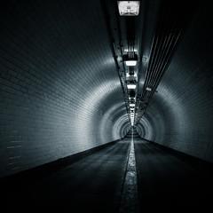 Blue Tube (hammermad) Tags: street london thames walking foot tunnel