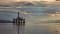 Oil Rig (Simon Jolly) Tags: sunset water scotland sony rig oil alpha cromarty slt firth invergordon a77v