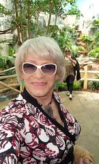 Laurette And Linda With The Birds (Laurette Victoria) Tags: wisconsin zoo women blondes linda milwaukee laurette milwaukeecountyzoo