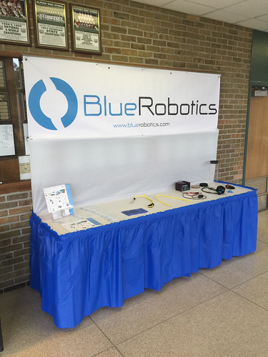 Blue Robotics booth at the Great Lakes MATE Competition