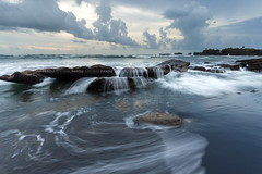 Gray Sunset Stream - Bali Photography Tour (Pandu Adnyana Photography Tour) Tags: travel sunset bali beach indonesia landscape photography tour guide balilandscape mengening balitravelphotography baliphotographytour baliphotographyguide