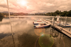 Seepark in Freiburg (simonpe86) Tags: light clouds boats licht dock wolken boote freiburg steg seepark