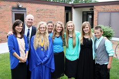 Smiles with the graduate (The Kingery Family) Tags: family pink blue grandma music black yellow happy parents spring purple singing baseball bluegrass outdoor memories group smiles siblings together harmony kingery graduate