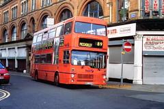 First Manchester 5035 (MRJ 35W) (SelmerOrSelnec) Tags: bus manchester thomasstreet gmt metrobus mcw firstmanchester mrj35w