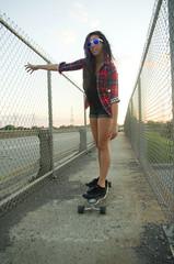 IMGP9086 (Aka Cam) Tags: bridge girl skate pacsun longboarding
