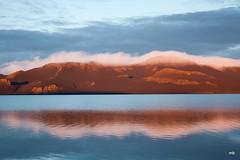 Evening sun at Lake Grnavatn (magnusbjorns) Tags: sky lake reflection landscape evening iceland fishing eveningsun flyfishing goldenhour higlands angler angling grnavatn veiivtn