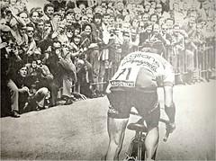 "1975 TDF Lucien Van Impe on ""The Wall"" (Sallanches 1964) Tags: tourdefrance muur kingofthemountains lucienvanimpe wallofgrammont"