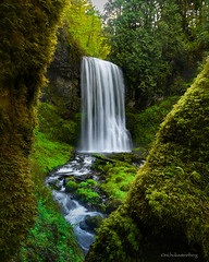 """Sanctuary""- Columbia River Gorge, OR (Nicholas Steinberg photography) Tags: summer green nature water oregon landscape flow moss spring nikon vibrant waterfalls license dreamy columbiarivergorge nicholassteinberg"