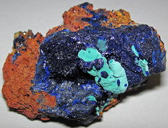 Azurite-malachite on gossan (Morenci Mine, Arizona, USA) (James St. John) Tags: malachite azurite copper carbonate carbonates mineral minerals morenci mine arizona gossan iron oxide greenlee county