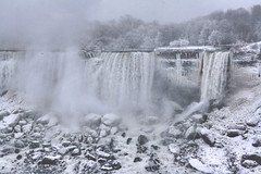 Niagara Fall in Winter (Artur Staszewski) Tags: winter white snow ontario canada cold fall weather fog canon frozen snowy january freezing sigma tourist tourists niagara falls most destination xs attraction visited 1770mm