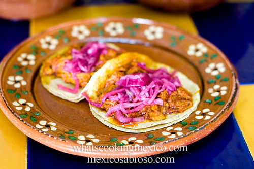 "Cochinita pibil tacos<br /><span style=""font-size:0.8em;"">Do you know your tacos? Read more about authentic tacos here: <a href=""http://whatscookingmexico.com/2012/03/27/a-world-of-tacos/"" rel=""nofollow"">whatscookingmexico.com/2012/03/27/a-world-of-tacos/</a></span> • <a style=""font-size:0.8em;"" href=""http://www.flickr.com/photos/7515640@N06/6880902866/"" target=""_blank"">View on Flickr</a>"