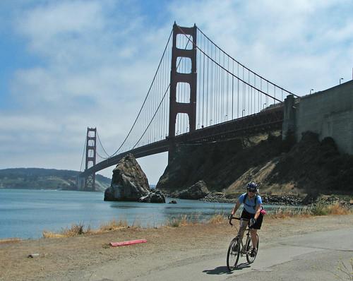Nancy at the Golden Gate