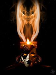 Stranger (Psycho_Babble) Tags: face candle mask smoke creepy spooky incense smokeart explored smokephotography smokephoto smokemanipulation creativesmoke