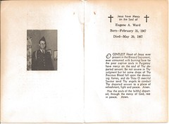 Eugene Ward Remembrance Card