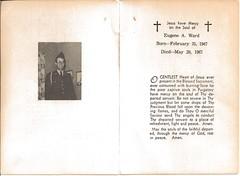 Eugene Ward Remembrance Card