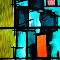 Stained Glass #3 (PeteZab) Tags: uk light england abstract color colour art window glass cathedral stained coventry canoneos50d petezab peterzabulis sigma1770f284dcmacroos