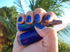 Azul Flocado (2/2) (Josélia Vasquez (iEsmalte)) Tags: azul impala coleção esmaltes brasileirinhas flocado novo70