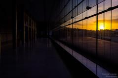 behind glass (Terence S. Jones) Tags: light sunset sun window glass museum athens greece lightroom4 fujifilmx100