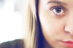 (María Granados) Tags: portrait face 50mm eyes bokeh retrato lips redlips canon50mmf18 f18