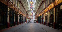 Diagon Alley (P1ay) Tags: light red london monument lamp yellow leadenhallmarket flag harrypotter unionjack diagonalley diagon victorianmarket p1ay