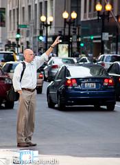 Hail, Hail (Rhys A.) Tags: chicago streets cab taxi hailing