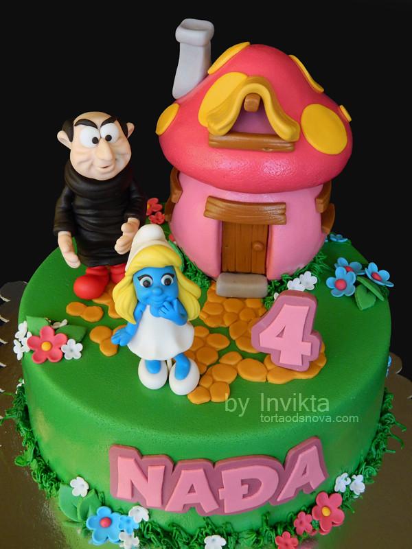 Smurfette birthday cake torta od snova tags house smurfs smurfette