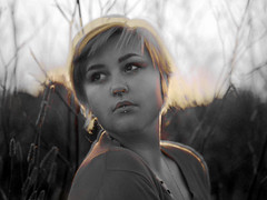 39/365 (Ashleigh Rose) Tags: portrait blackandwhite girl beauty field self overlay 365 simple
