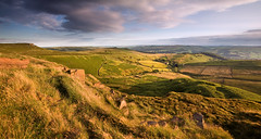 View From Callow Bank (Paul Newcombe) Tags: uk summer england panorama english nationalpark view derbyshire july vista peaks goldenhour goldenlight sidelight higgertor callowbank britnatparks