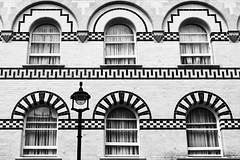 Day #1663 (cazphoto.co.uk) Tags: windows building london monochrome architecture lumix mono arches panasonic lamppost westend afterrain 200712 project366 dmcgf1 1442mmf3556ios beyond1461