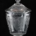 158. Etched Lidded Glass Centerpiece with Undertray