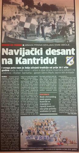 Navijački desant na Kantridu (Novi List, 26.07.2012)