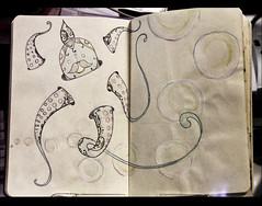 Pouvoou - DesenhOrganico (Bruno Z.) Tags: two moleskine paint pages holes bubble octopus organic draw ilustration whater desenhorganico