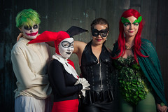 Gotham City Sirens (mrksaari) Tags: city summer portrait espoo finland blog costume cosplay ivy harley event quinn joker poison gotham catwoman con 2012 sb80dx sirens profoto ropecon dipoli d700 2470mmf28g acuteb