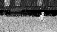 lost in field (I.Dostál) Tags: boy portrait bw nature face field canon children lost child outdoor bn tele cb vystava