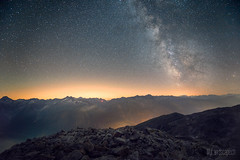 * Sidelhorn: Milky Way * (dmkdmkdmk) Tags: sunset mountain lake alps nature fog night clouds stars landscape switzerland evening nikon swiss peak mount summit hdr d800 milkyway schreckhorn grimsel startrail finsteraarhorn passroad seaoffog lauteraarhorn sidelhorn oberaarhorn sidelhorngrimselpassnachtsternemilchstrasse