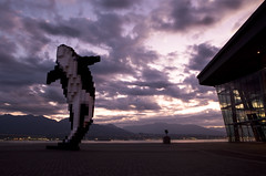 Digital Orca by Douglas Coupland (William Self) Tags: vancouver sunrise britishcolumbia killerwhale douglascoupland digitalorca
