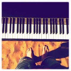 piano again (Alexey Tyudelekov) Tags: beach me saint standing keys sand play legs piano petersburg there solnechnoe