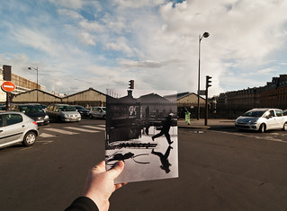 Looking Into the Past: Behind Gare St. Lazare, Paris, France