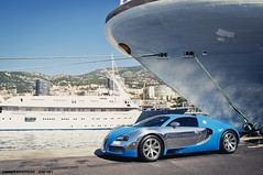 Cruise Liner (Gaetan | www.carbonphoto.fr) Tags: world auto cruise blue sky sun paris france water car speed square de french one hotel 1 nikon riviera ship photoshoot harbour south fast competition prince automotive casino monaco exotic chrome coche jp formula carlo monte bugatti reflexion luxury exclusive supercar fastest luxe w16 centenaire 1001 veyron liner lightroom supersport tmm d90 molsheim gaetan principaut hypercar 1001hp larvotto wimille worldcars 400kmh 1685mm carbonphotofr carbonphoto