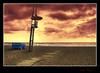 """Esperando mejores tiempos (Ramirez de Gea) Tags: sunset costa landscape atardecer playa arena hdr vigilancia hamacas santasusana flickrestrellas spiritofphotography hdraward """"nikonflickraward"""" olétusfotos goldenawardlostcontperdidos"""