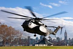 A U.S. Navy MH-53 helicopter lands in Hoboken, N.J. (Official U.S. Navy Imagery) Tags: newyork us newjersey navy nj sailors marines marinecorps hoboken disasterrelief iimarineexpeditionaryforce 26marineexpeditionaryunit hurricanesandy